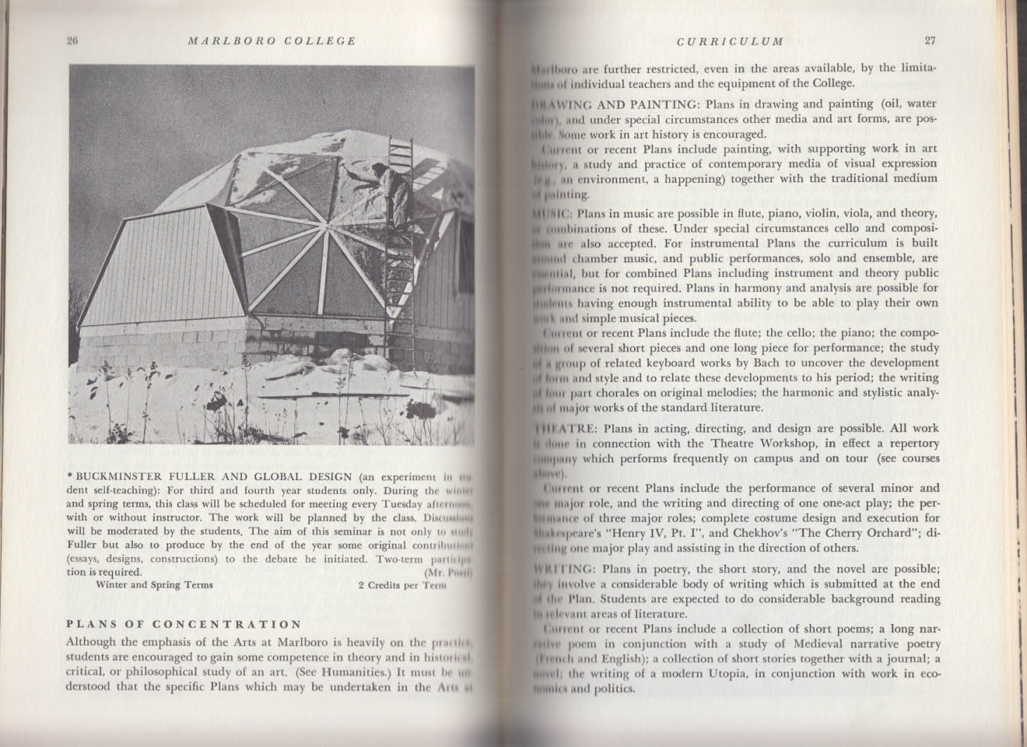 Marlboro College Catalogue 1969-1970 Vermont