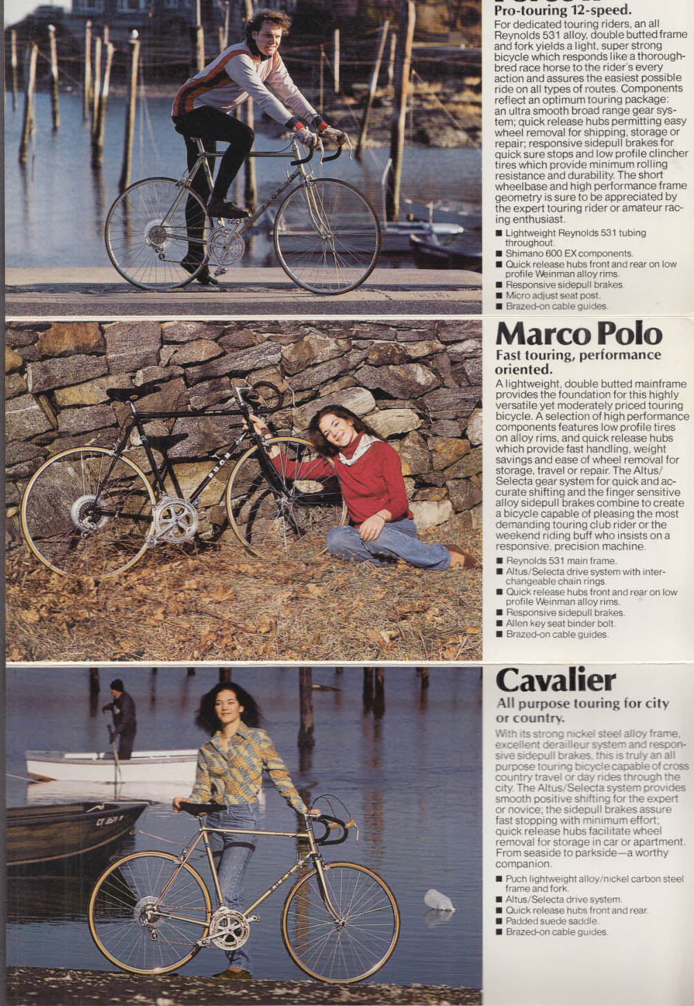 Steyr Daimler Puch of America Bicycles catalog folder 1980