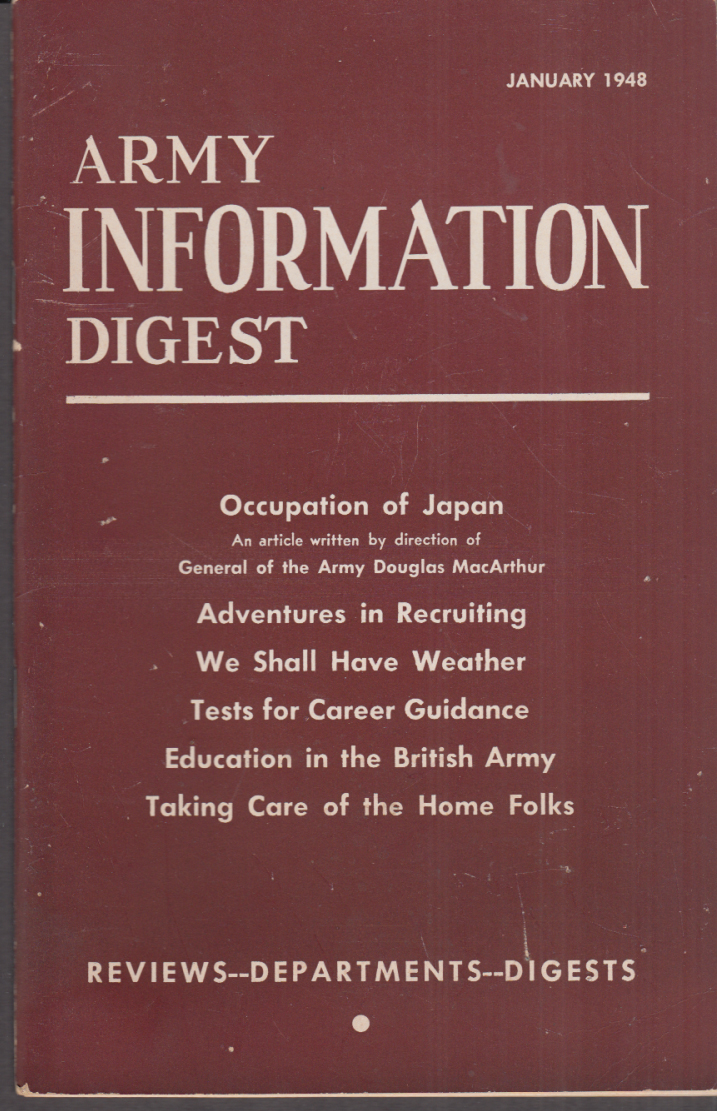ARMY INFORMATION DIGEST 1 1948 MacArthur Ground Forces in War Operation Seminole