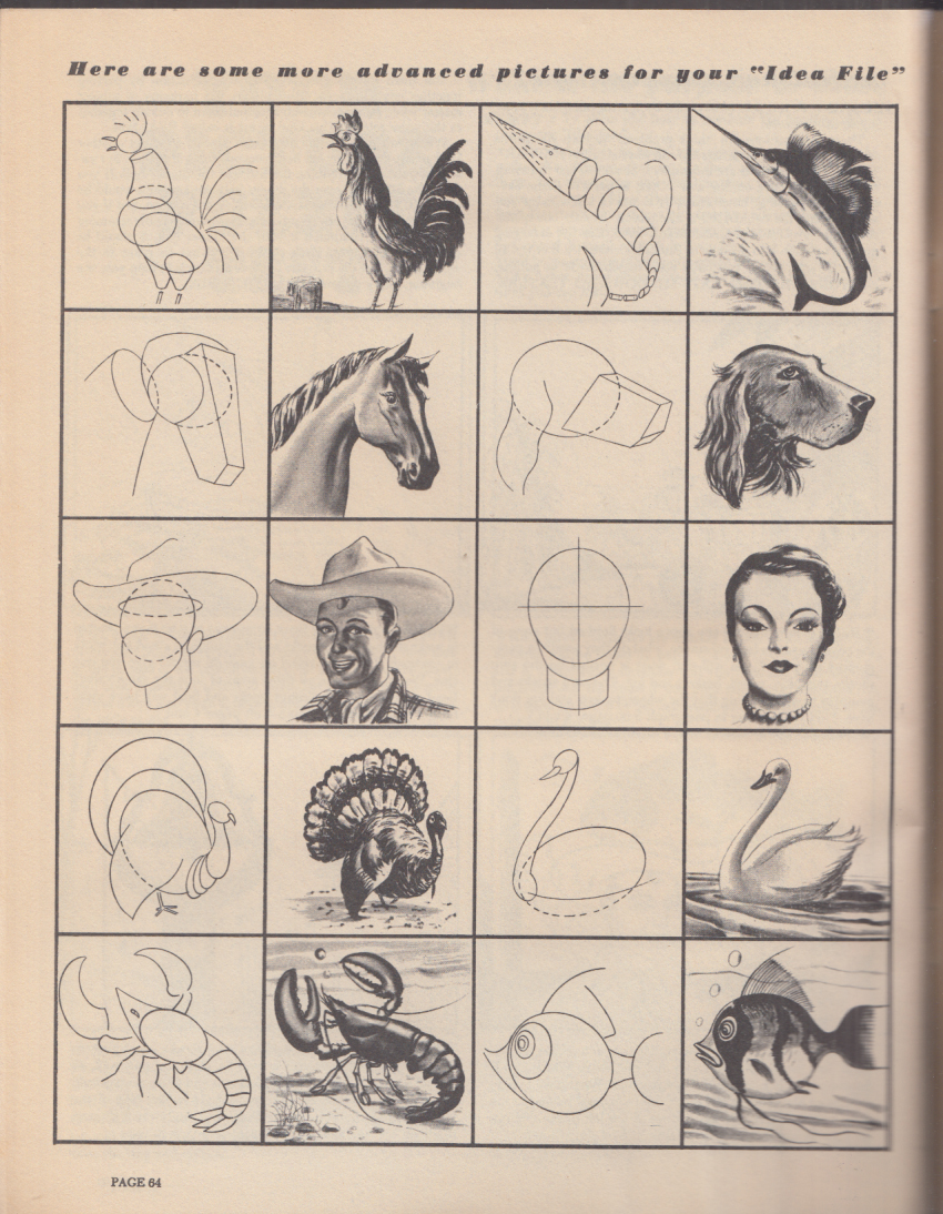 Learn to Draw with Jon Gnagy America's TV Art Instructor booklet 1950s
