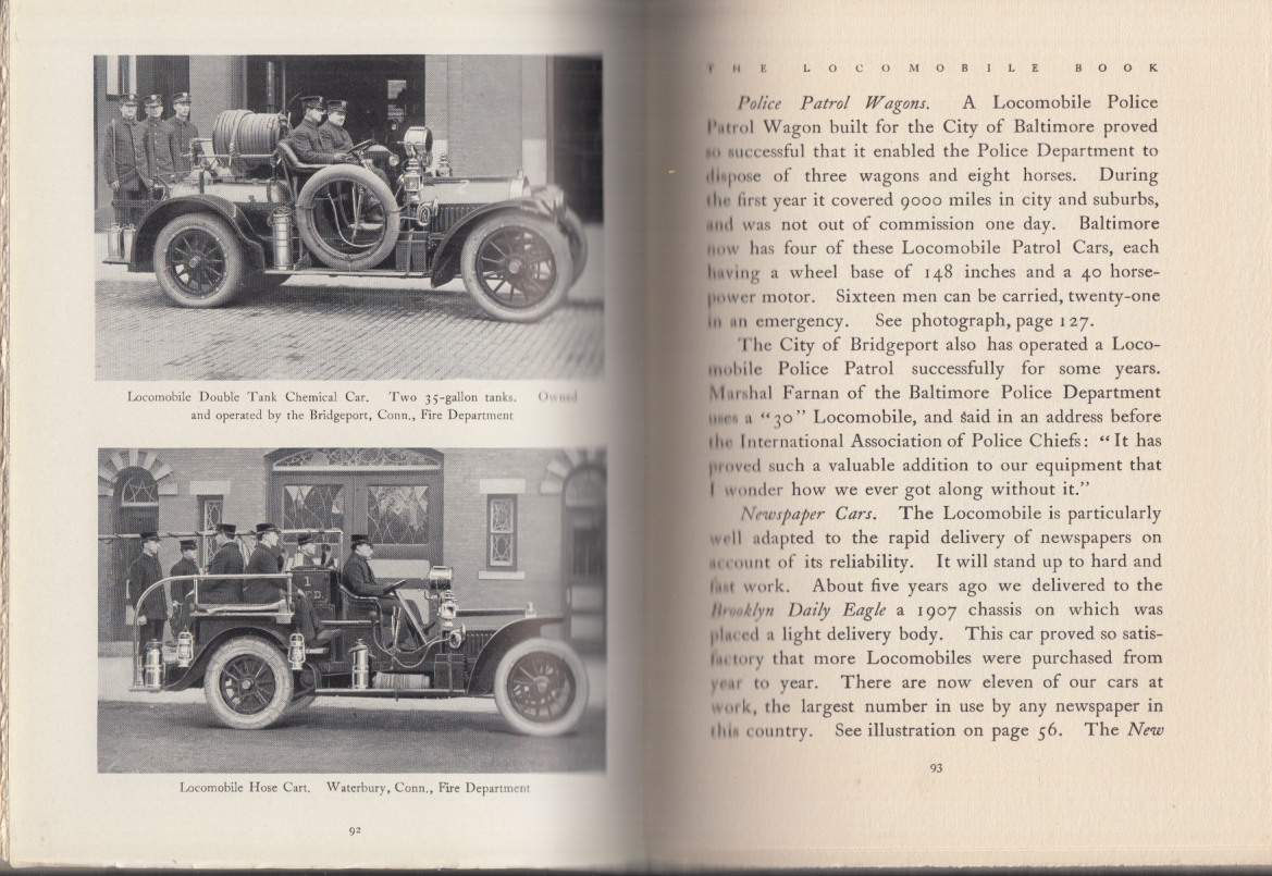 The Locomobile Book: The Car of 1912 hardbound catalog Bridgeport CT