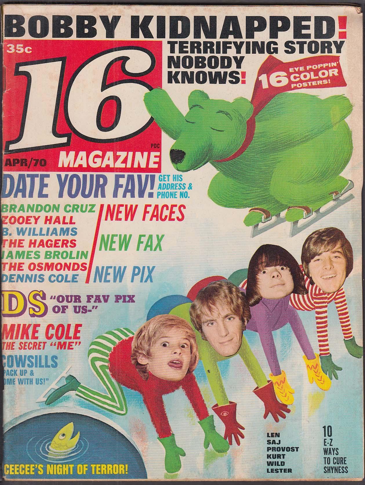 16 Bobby Sherman Mike Cole Jack Wild Kurt Russell + 4 1970
