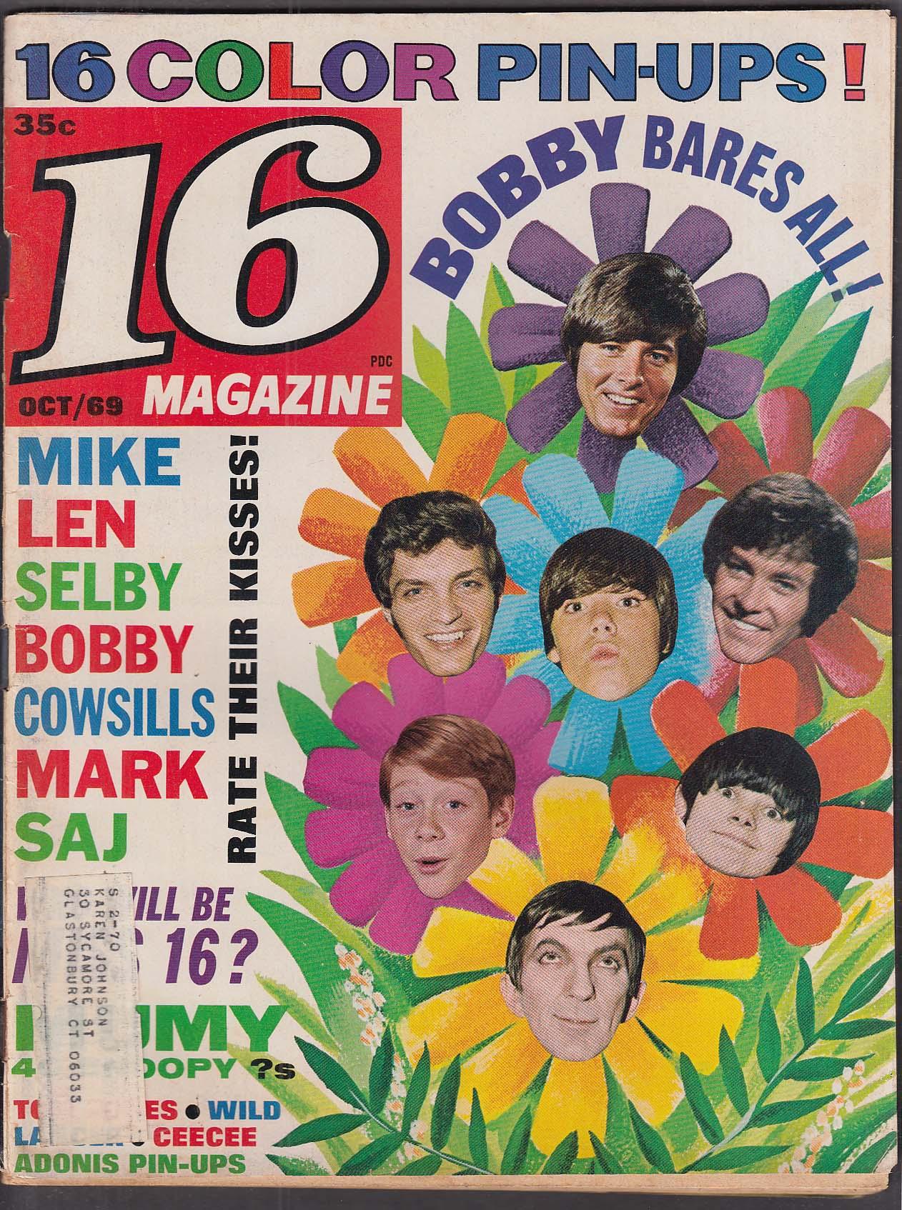 16 Bobby Sherman Sajid Kahn David Selby Jack Wild Cowsills 10 1969