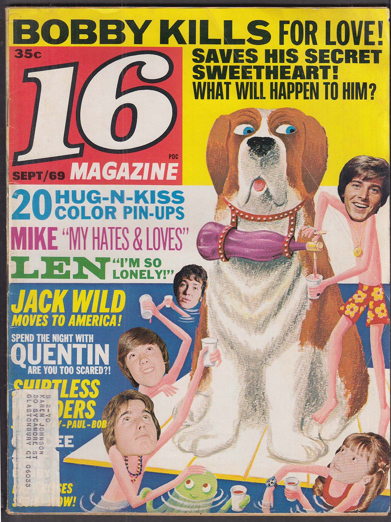 16 Bobby Sherman Jack Wild Quentin Selby Davy Jones 9 1969