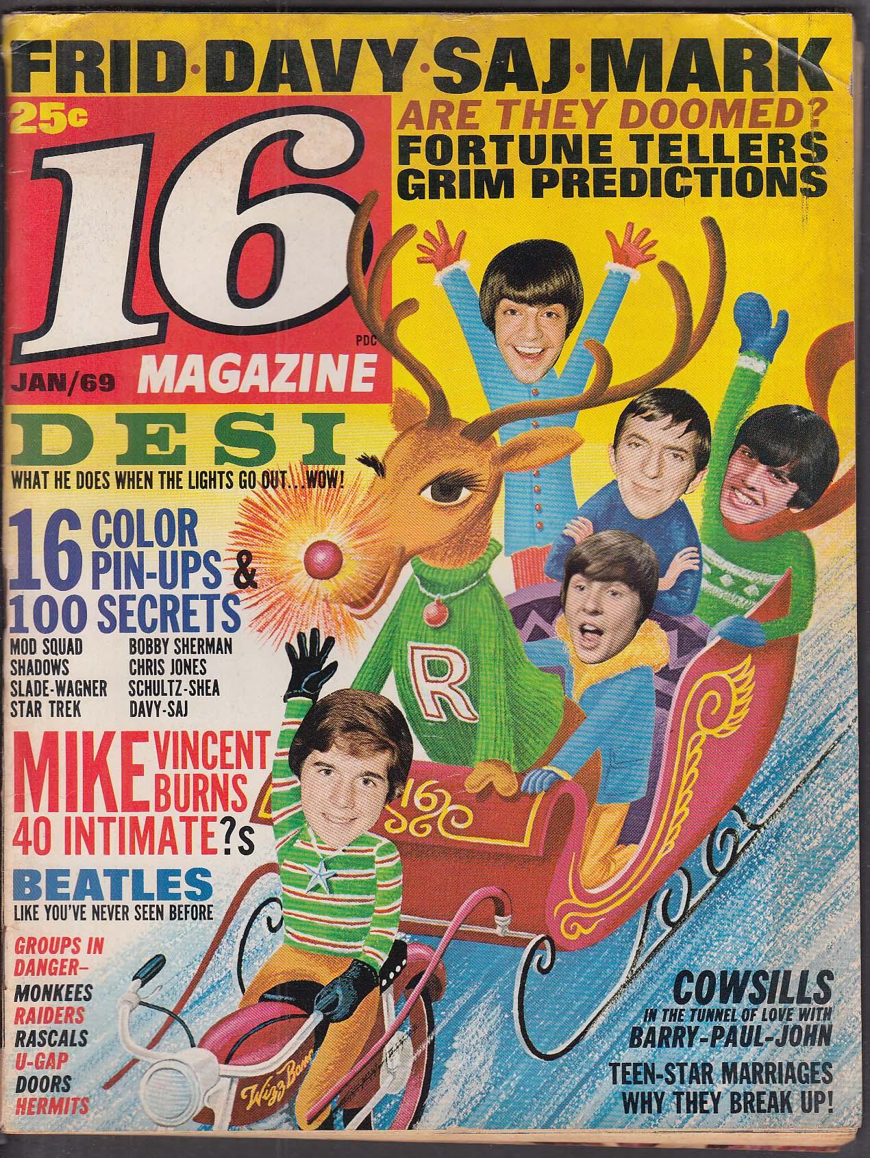 16 Desi Davy Jones Saj Monkees Bobby Sherman Chris Jones Cowsills Beatles 1 1969