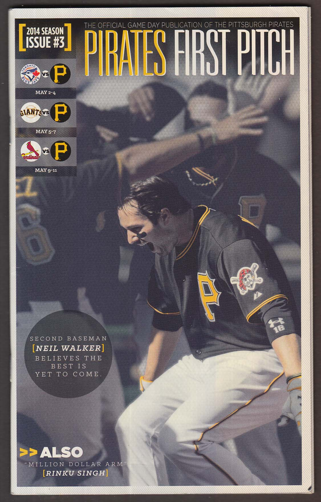 Pittsburg Pirates FIRST PITCH 2014 Season Issue #3 Neil Walker +