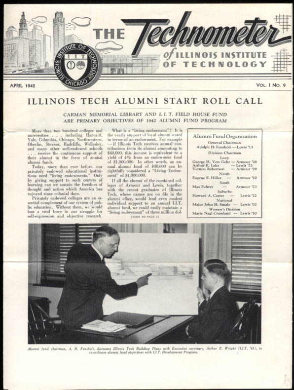 Illinois Institute of Technology TECHNOMETER 4 1942 New Campus Proposal
