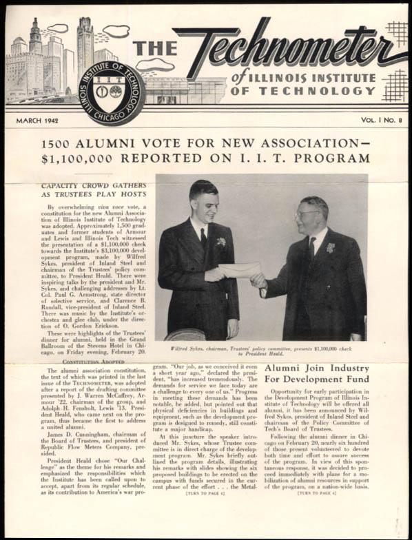 Illinois Institute of Technology TECHNOMETER 3 1942 Development Fund