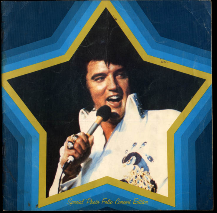 Elvis Presley Special Photo Folio Concert Edition souvenir program 1973