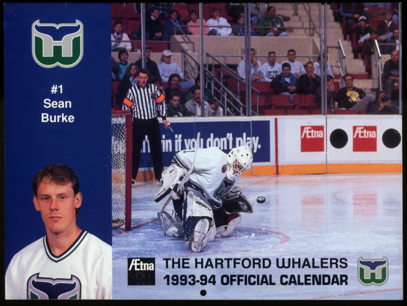 1993-1994 Hartford Whalers Official Calendar unmarked