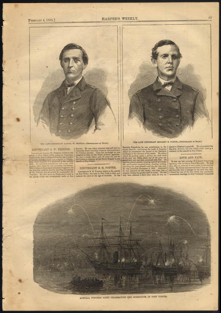 Image for Lt Samuel W Preston Benjamin Porter by Mathew Brady / Porter Fleet Harper's 1865