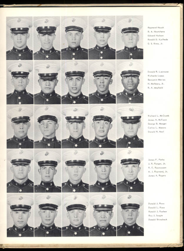 Image for US Marine Corps Depot Yearbook San Diego 1st Bn Platoon 1006 ca 1956