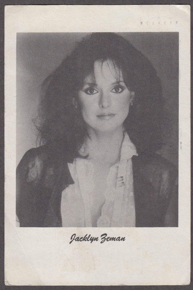 Soap Opera star Jacklyn Zeman request for Best Actress votes postcard 1985