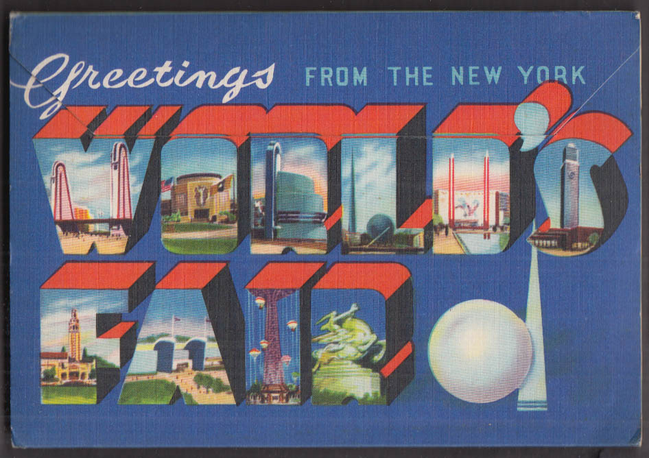 1939 New York World's Fair 18-view mailer Grinnell Litho