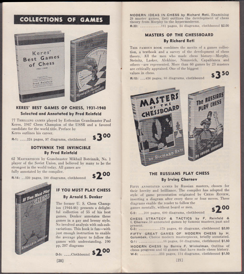 Chess Review Catalog of Chess Books 1948