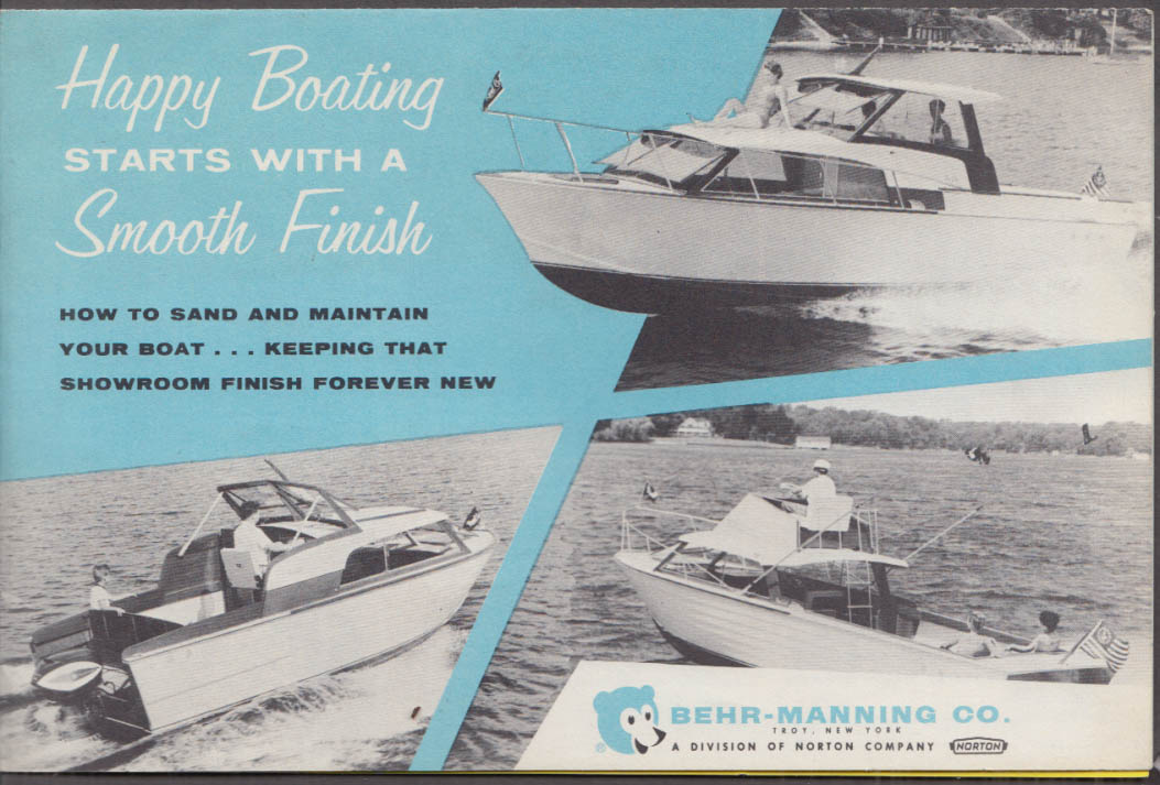 Behr-Manning Happy Boating Starts With Smooth Finish folder 1963