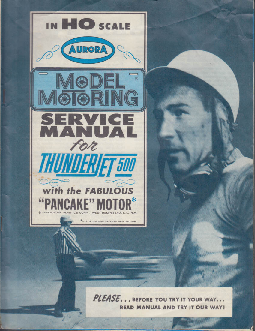 Aurora HO Model Motoring Service Manual Thunderjet 500 1963