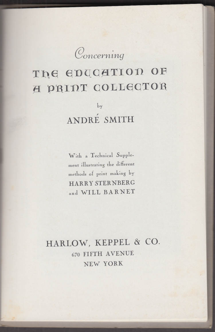 Education of a Print Collector: Harlow Keppel: NY 1930s Rockwell Kent