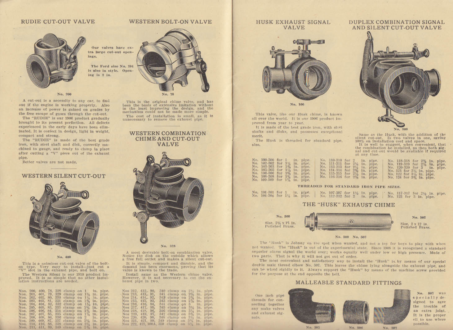 Western Brass Standard & Special Auto Accessories Catalog #38 ca 1915