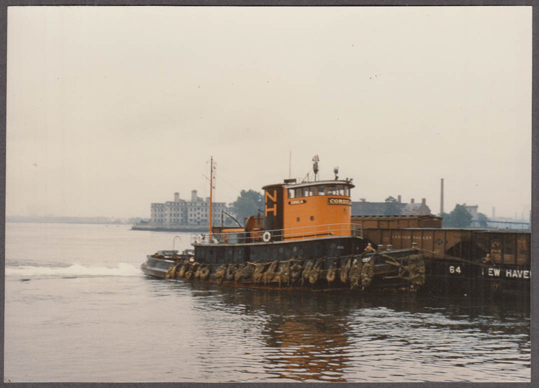 New York New Haven & Hartford RR Togboat Cordelia side view photo