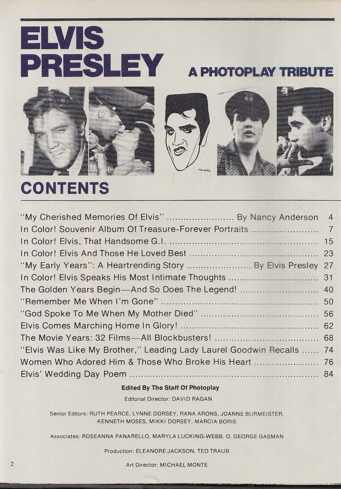 ELVIS PRESLEY Photoplay Tribute Special Collector's Edition 1977