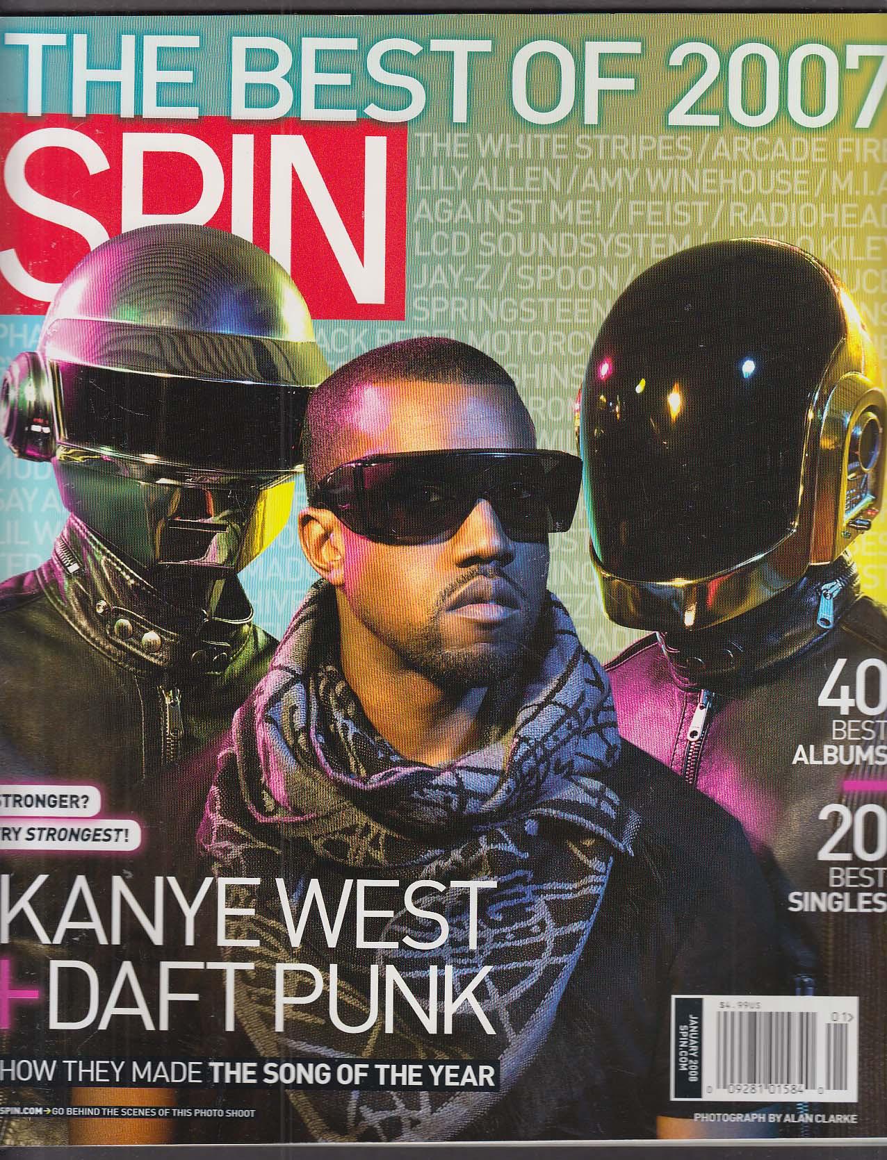SPIN Kanye West Daft Punk White Stripes Arcade Fire Amy Winehouse + 1 2008