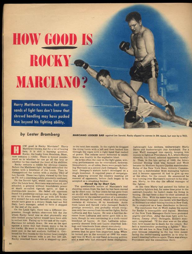 POLICE GAZETTE 9 52 Rocky Marciano Al Rosen Cheri Clark wrestler Hackenschmidt