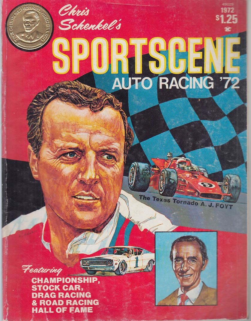 Chris Schenkel's SPORTSCENE AUTO RACING '72 Foyt De Paolo Lloyd Ruby Unser