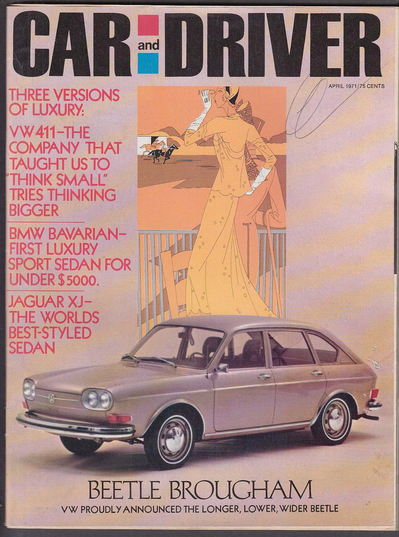CAR & DRIVER Volkswagen 411 Beetle Brougham Mercury Capri Jaguar XJ tests 4 1971