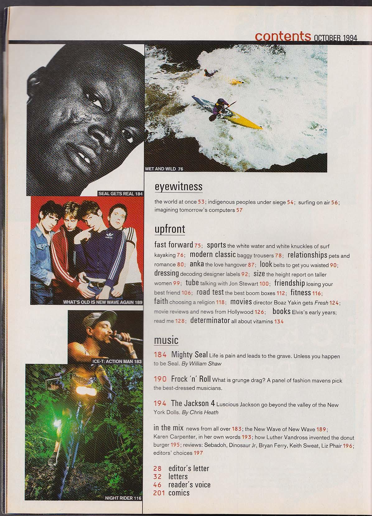 DETAILS Heather Locklear Jon Stewart Seal Lollapalooza ++ 10 1994