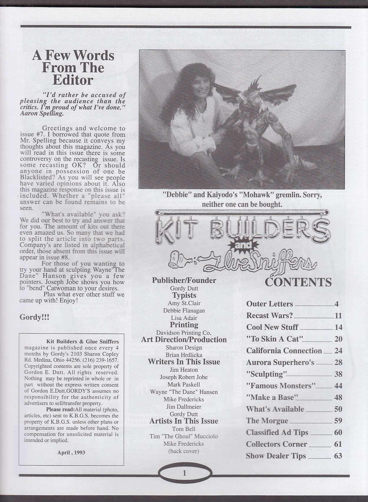 KIT BUILDERS & GLUE SNIFFERS #7 Aurora Sueprheroes Catwoman How to Sculpt 4 1993