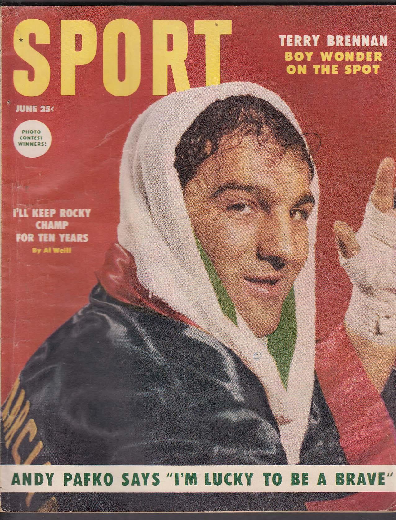 SPORT Rocky Maricano Andy Pafko Terry Brennan ++ 6 1954