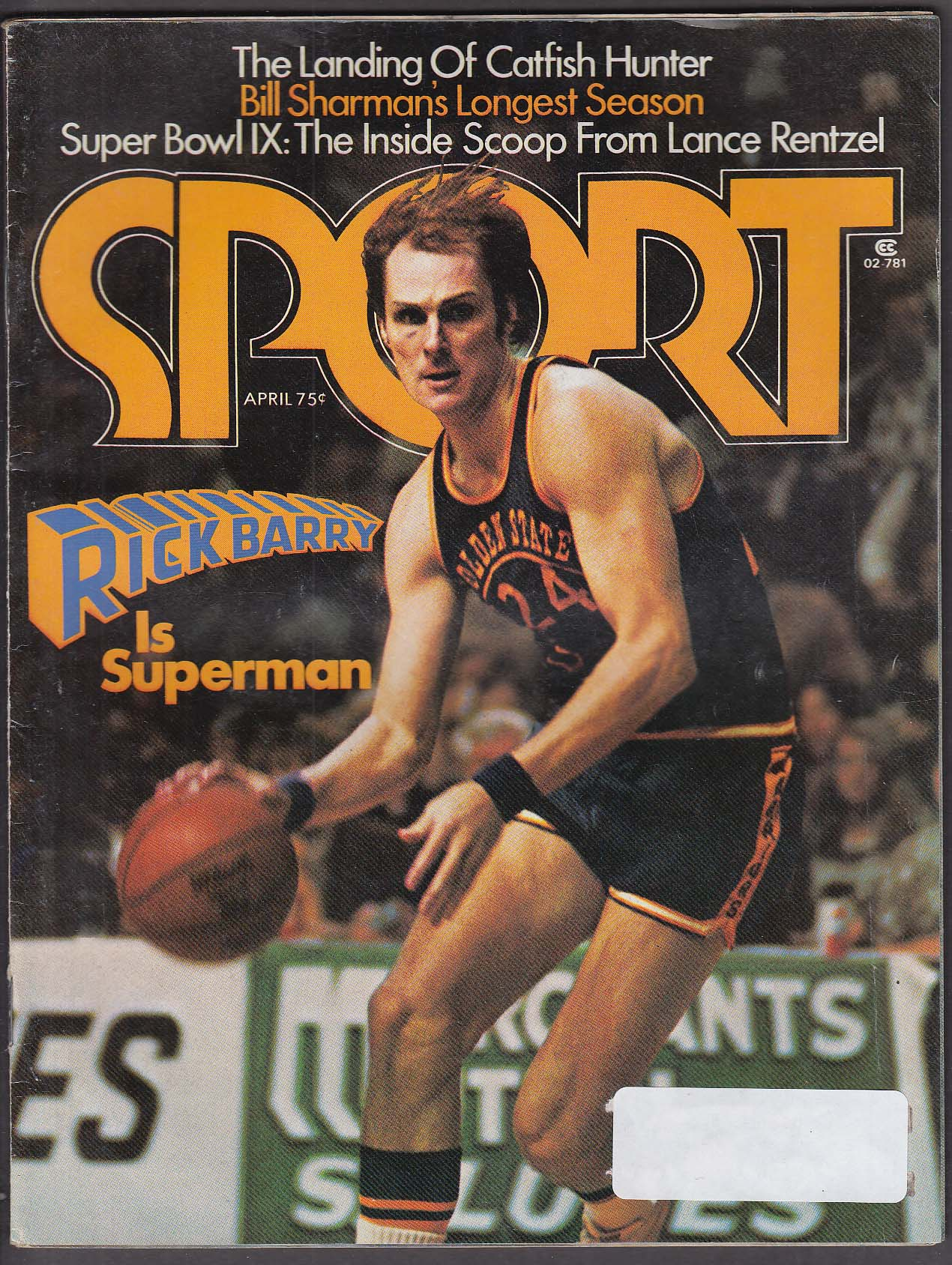 SPORT Rick Barry Catfish Hunter Bill Sharman Lance Rentzel ++ 4 1975