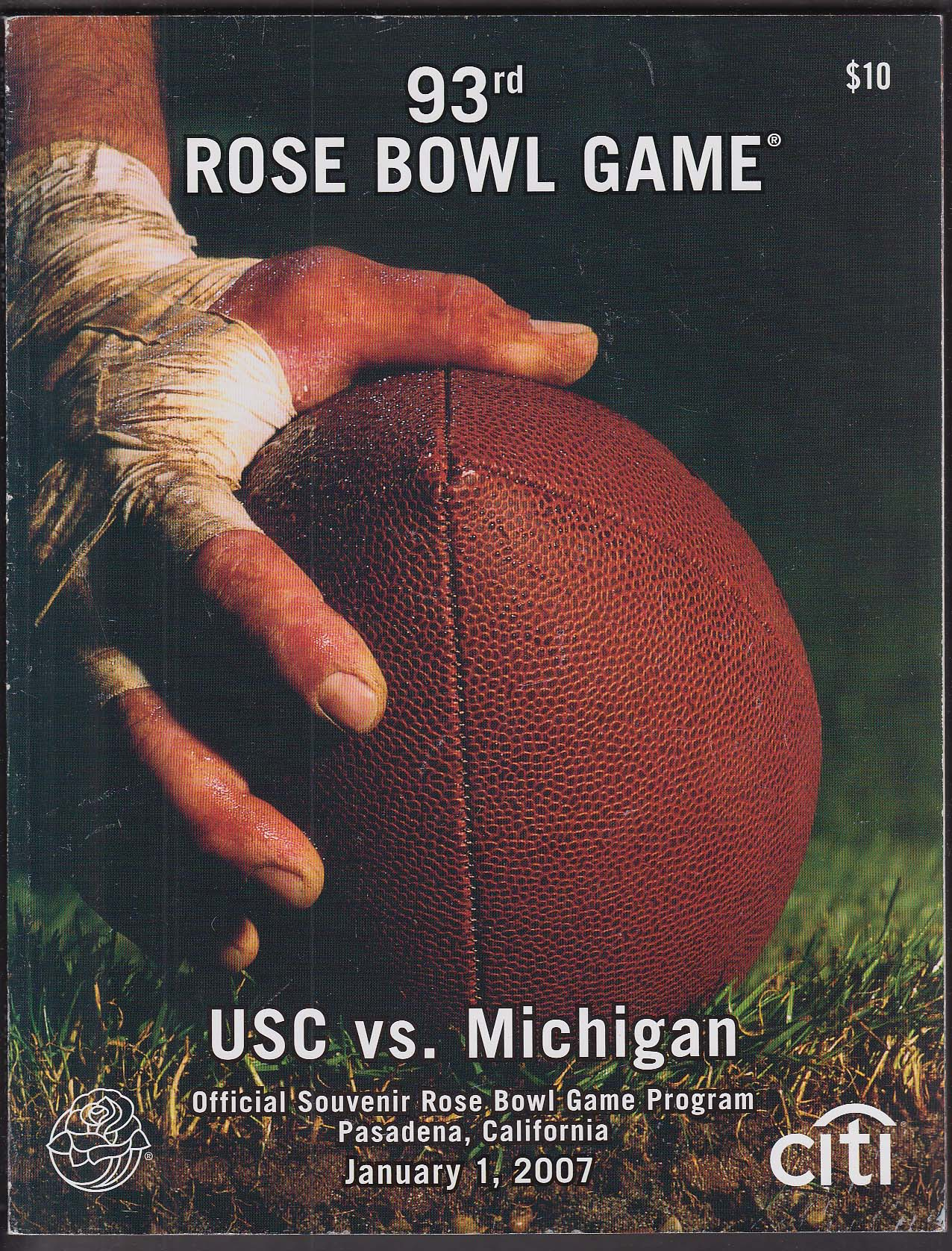 93rd Rose Bowl Game USC vs Michigan Official Souvenir Program