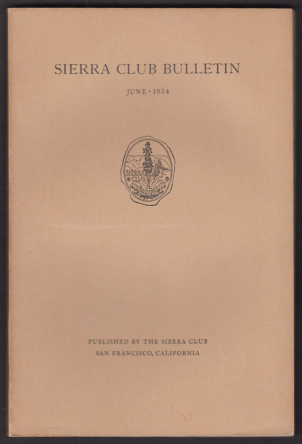 SIERRA CLUB BULLETIN Mount Humphreys West Temple Sawtooth Ridge ++ 6 1934