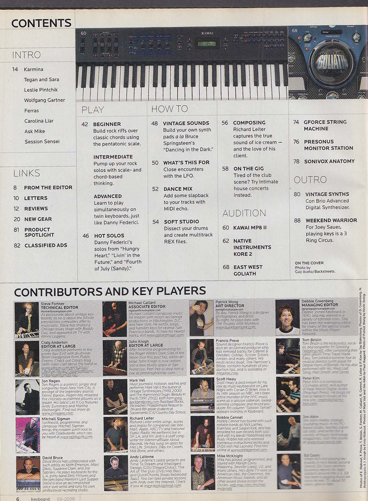 KEYBOARD Danny Federici Bruce Springsteen Mike Paris T Lavitz ++ 8 2008