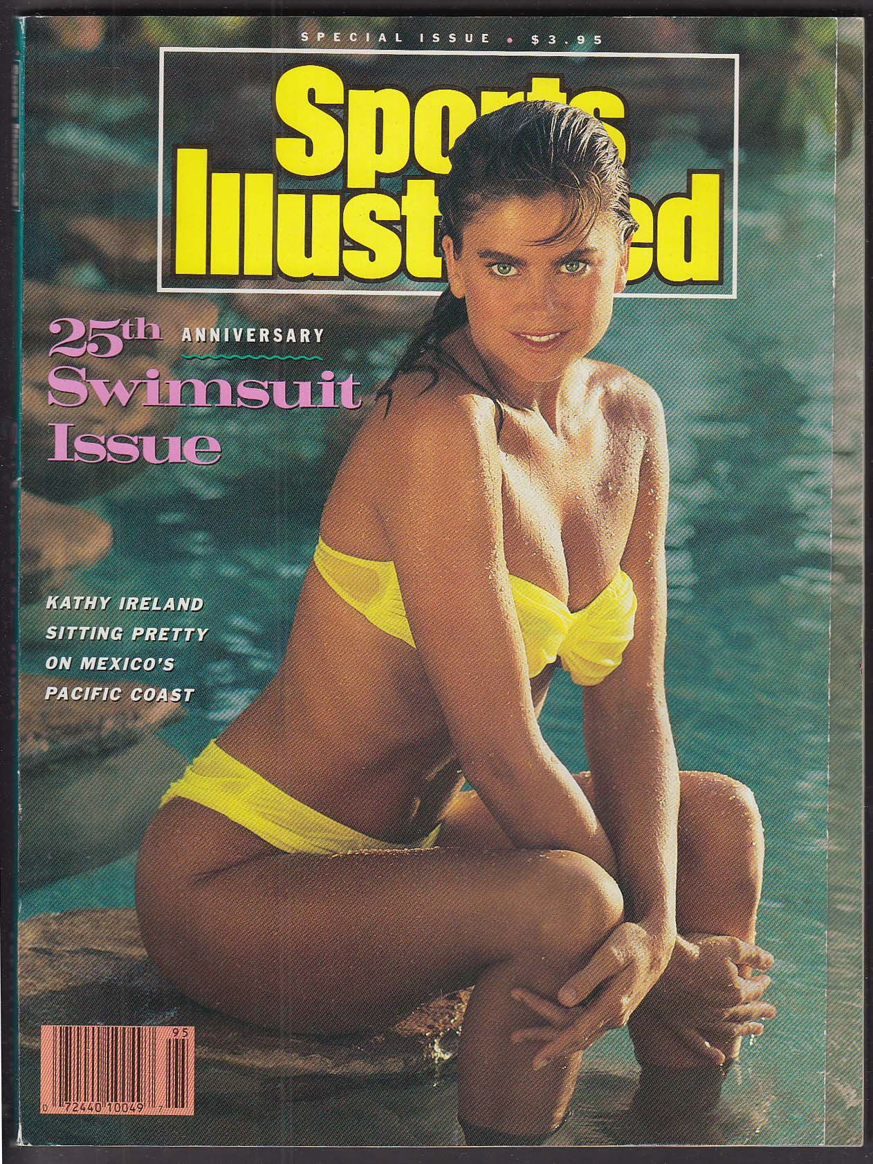SPORTS ILLUSTRATED 25th Anniversary Swimsuit Issue Kathy Ireland ++ 2 1989