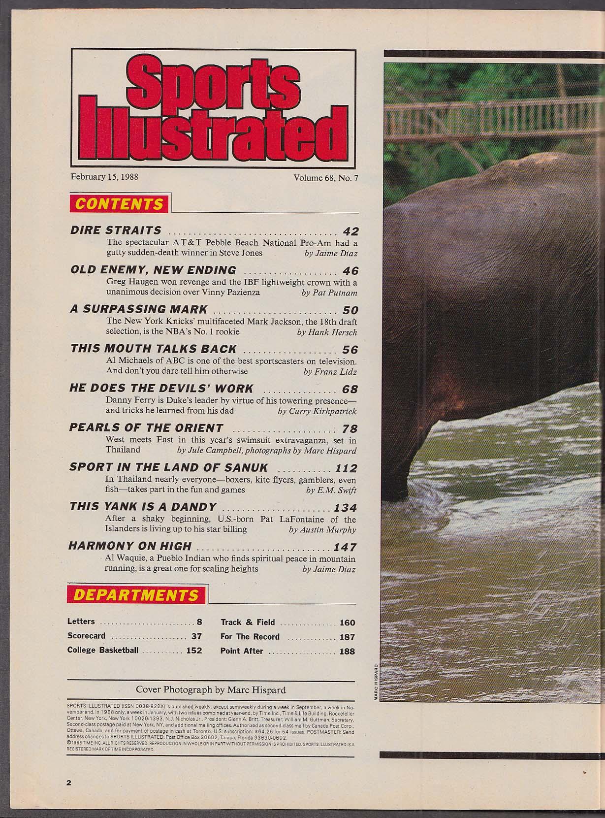 SPORTS ILLUSTRATED Swimsuit Edition Elle Macpherson Greg Haugen ++ 2/15 1988