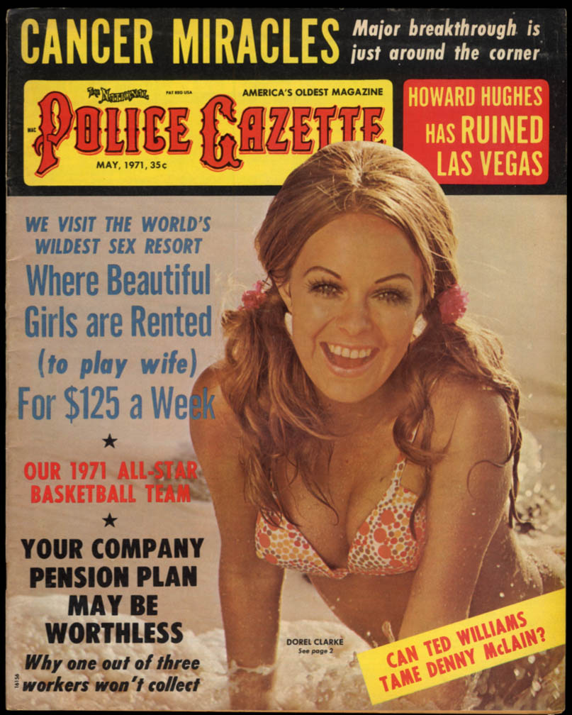 police gazette 5 1971 ted williams howard hughes faye dunaway motorball