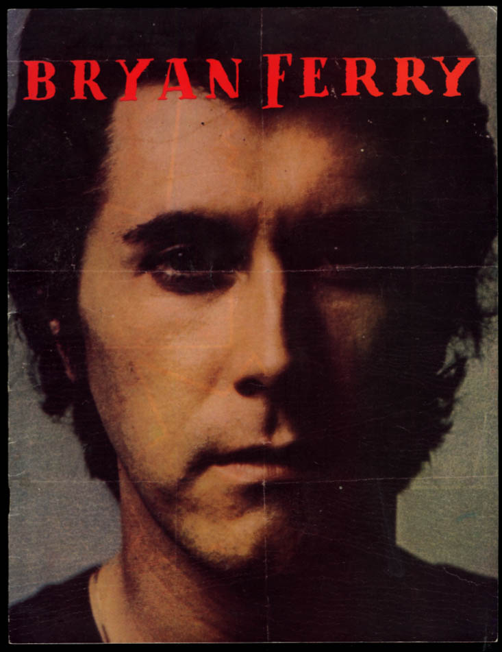 Bryan Ferry Concert Tour Program 1988