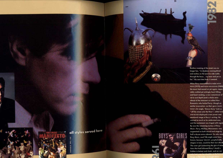 Bryan Ferry Concert Tour Program 1988