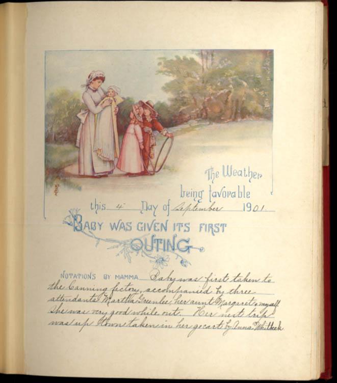 Frances Brundage: Baby's Biography: Esther Margaret Langwill b. 7/24 1901