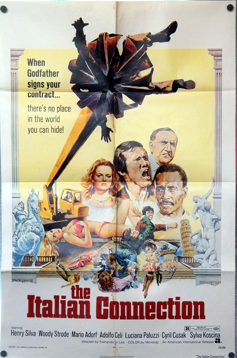 Image for The Italian Connection one-sheet movie poster 1973 Henry Silva Woody Strode