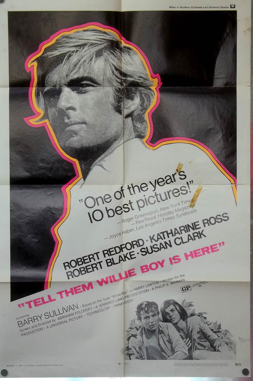 Tell Them Willie Boy Is Here one-sheet movie poster 1970 Robert Redford