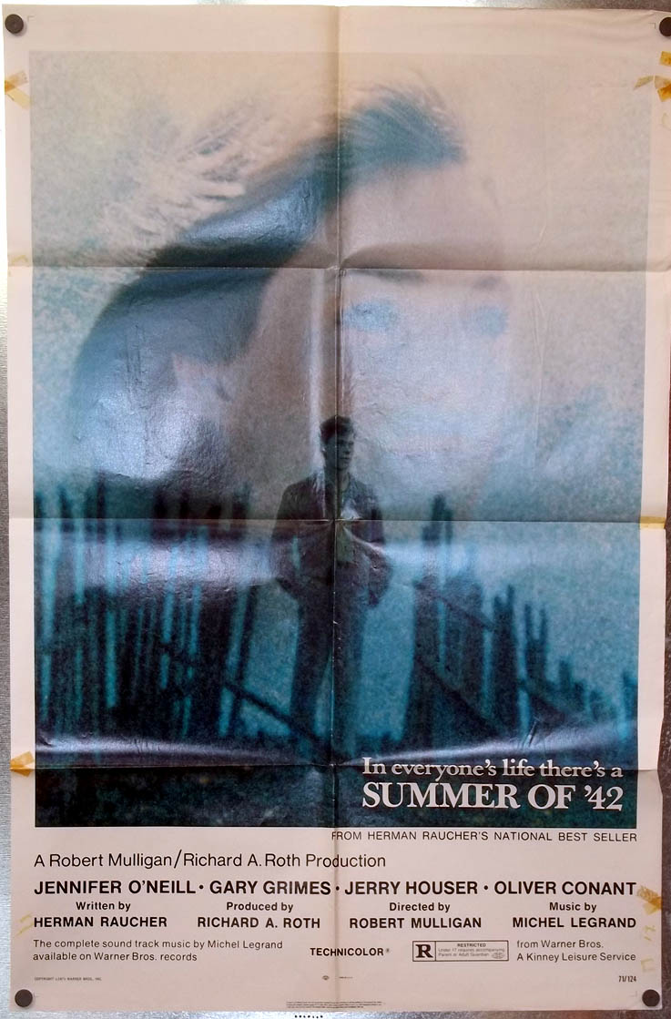 Summer of '42 one-sheet movie poster 1972 Jennifer O'Neill Gary Grimes