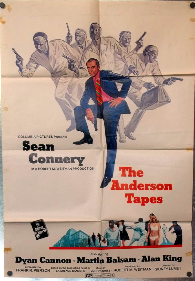 The Anderson Tapes one-sheet movie poster 1971 Sean Connery Dyan Cannon