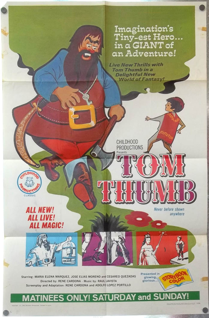 [Adventures of Joselito &] Tom Thumb one-sheet movie poster 1967 re-release