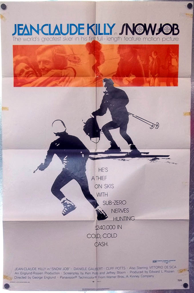 Jean-Claude Killy in Snow Job one-sheet movie poster 1972