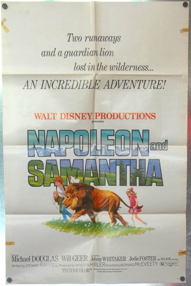 Napoleon & Samantha one-sheet movie poster 1972 Michael Douglas Jodie Foster