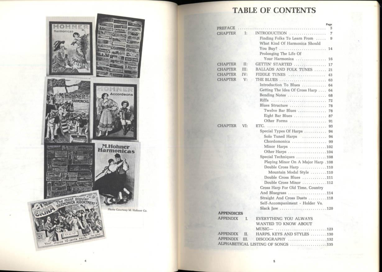 Mel Bay's Folk & Blues Harmonica Instruction Manual 1976